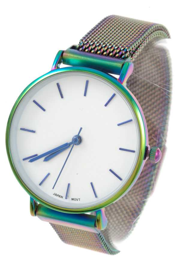 ADJUSTABLE MESH CHAIN WATCH