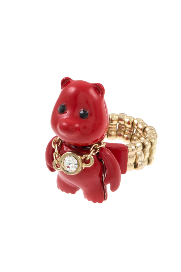 TEDDY WITH CHAIN NECKLACE STRETCH RING