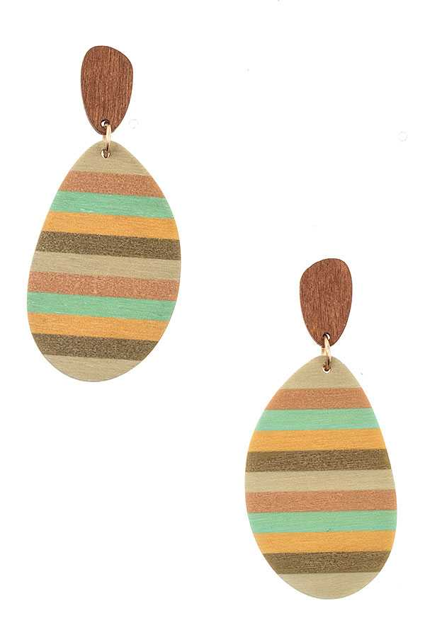 MULTI COLOR LINE DROP EARRING