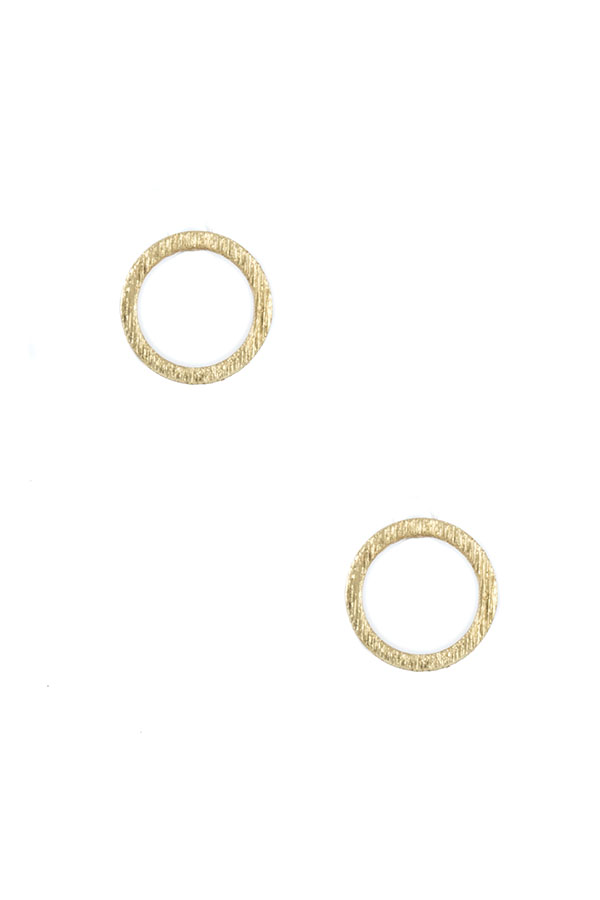 CIRCLE POST EARRING