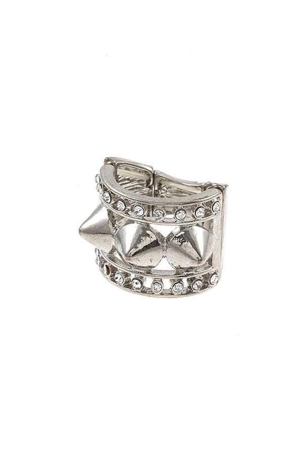 STUD SPIKE ACCENT STRETCH RING