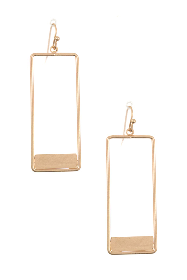 Rectangular Cut Out Dangle Earring