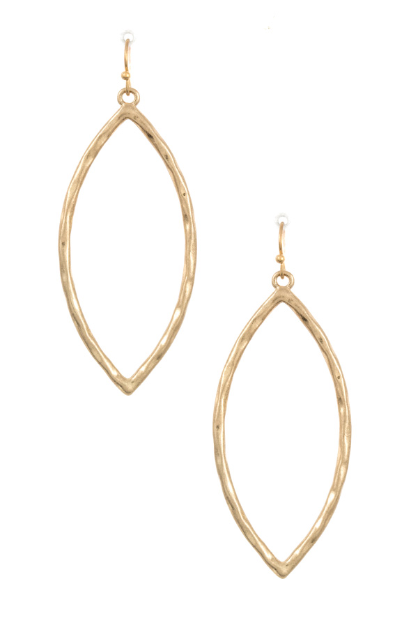 Cut Out Marquise Dangle Earring