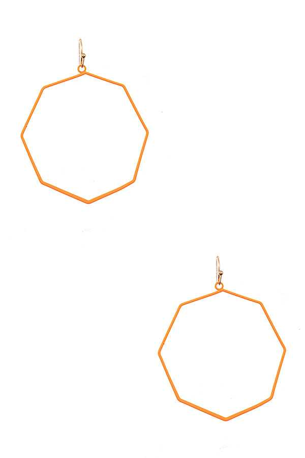 OCTAGON OUTLINE  EARRING