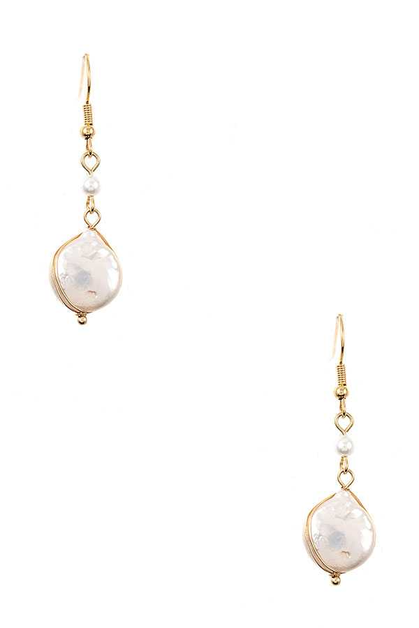 FRESHWATER PEARL DROP DANGLE EARRING