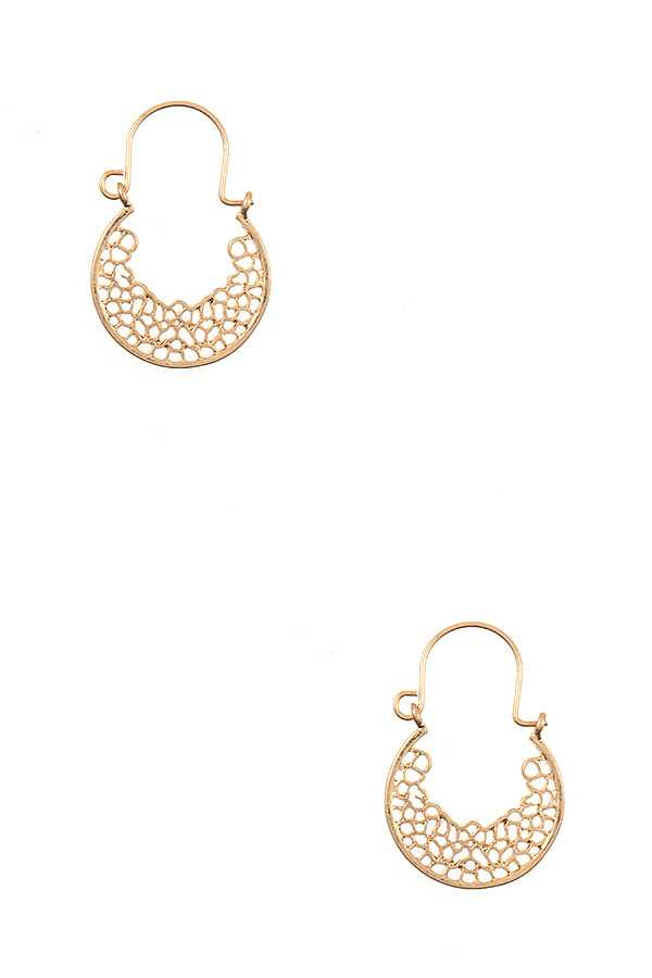 FILIGREE END DROP EARRING
