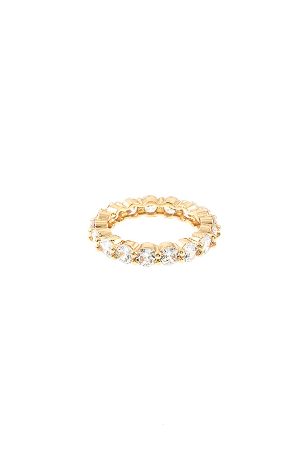 CZ STONE PAVE RING