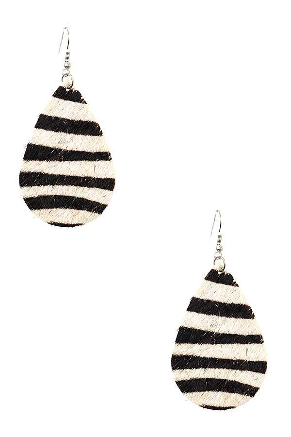 TEARDROP ANIMAL PRINT DANGLE EARRING