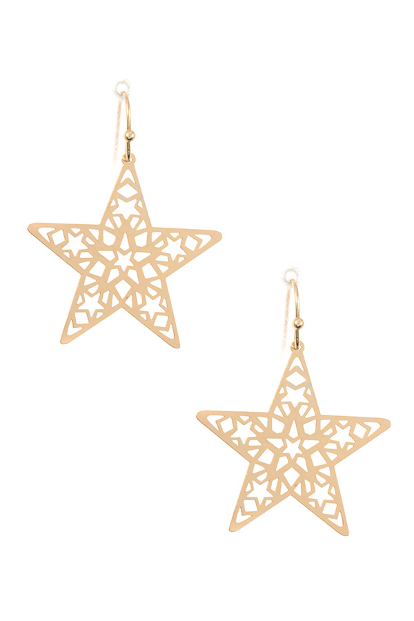 STAR CUT OUT DANGLE EARRING