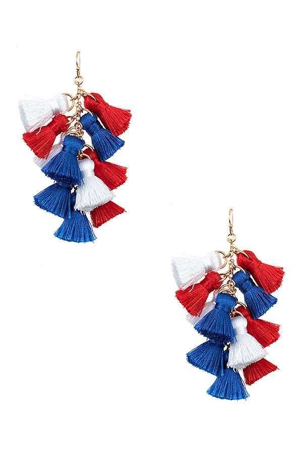 MULTI TASSEL DROP EARRING