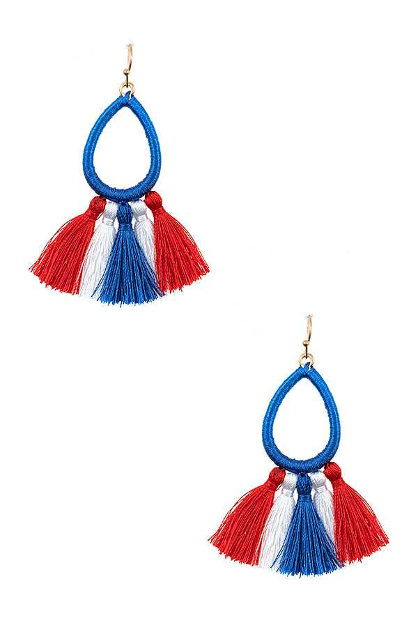 SPRING COLOR TASSEL FASHION EARRING