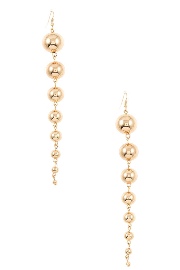 Oblong Orb Link Dangle Drop Earring