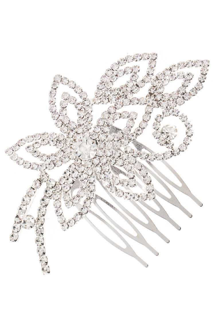 Rhinestone Pave Detailed Hair Comb Insert