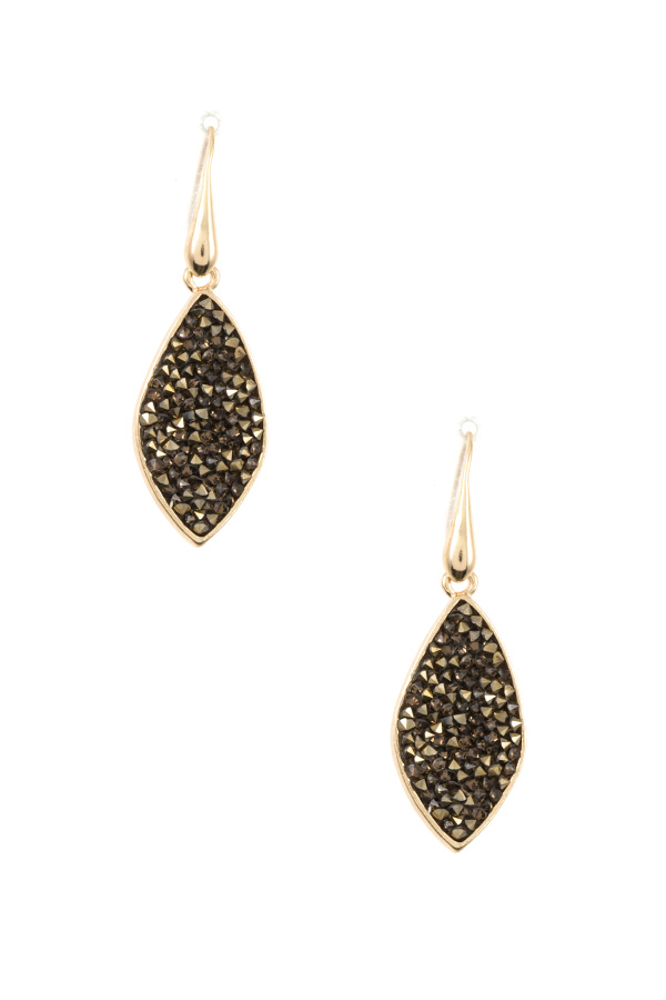 CLUSTER GEM MARQUISE CUT DROP EARRING