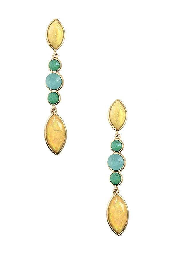 OPAL FRAMED MARQUISE DROP EARRING