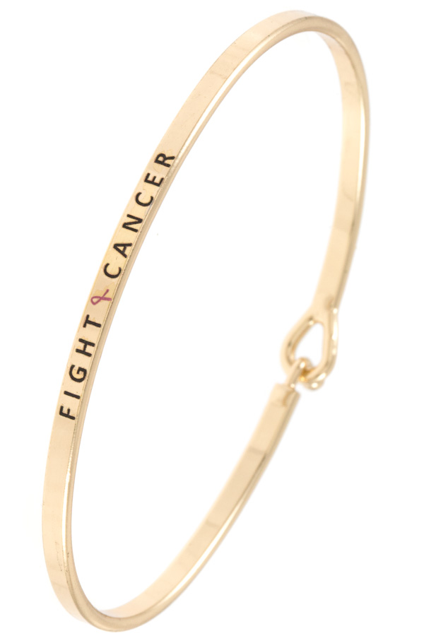 FIGHT CANCER Accent Bangle Bracelet