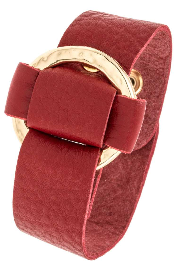 Leather Ring Adjust Bracelet