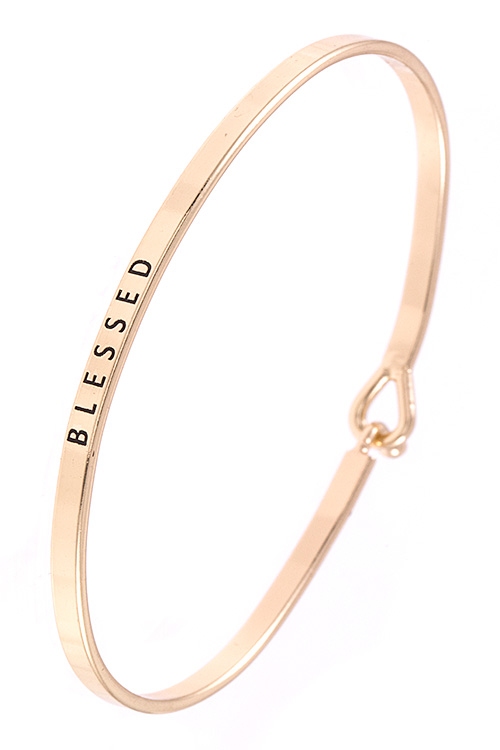BLESSED Wire Brass Bangle Bracelet