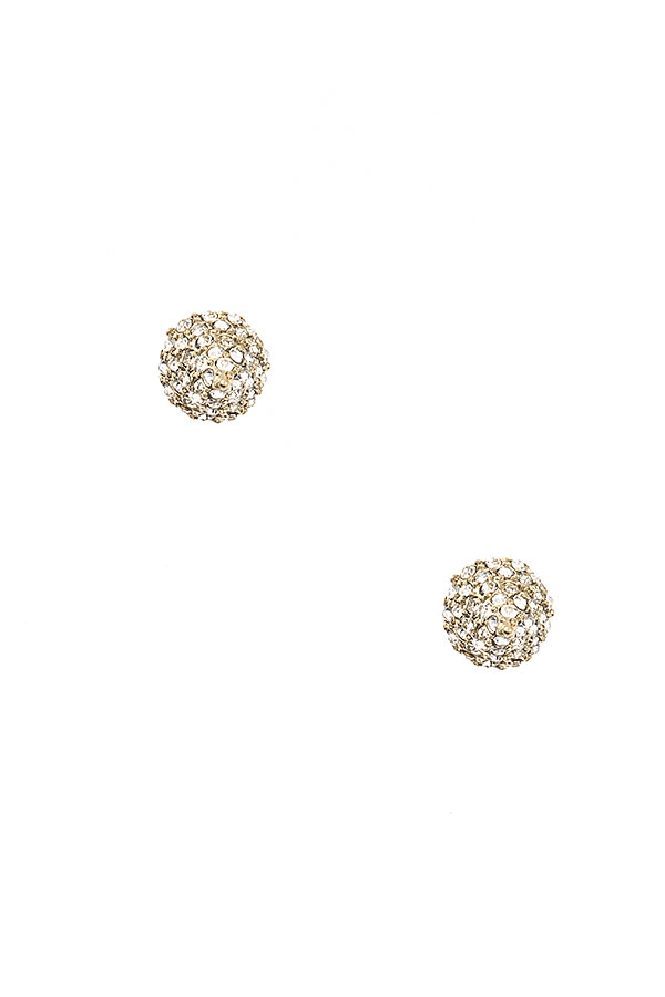 RHINESTONE PAVE CONE POST EARRING