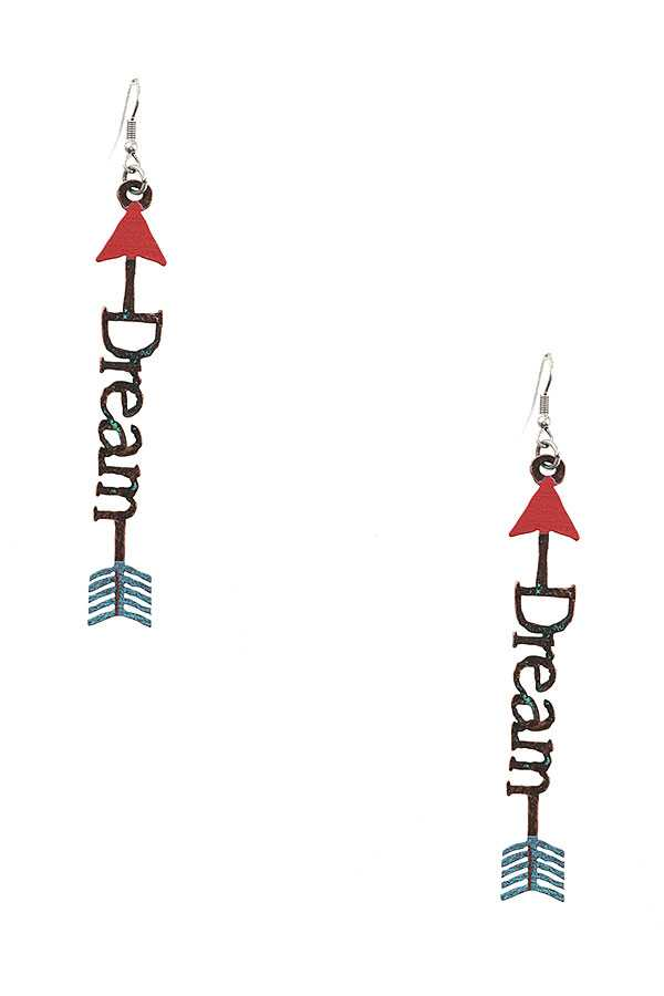 DREAM ARROW ACCENT DANGLE EARRING