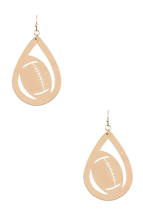 FOOTBALL TEARDROP EARRING