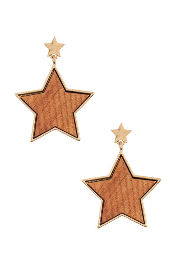 STAR DANGLE STUD EARRING