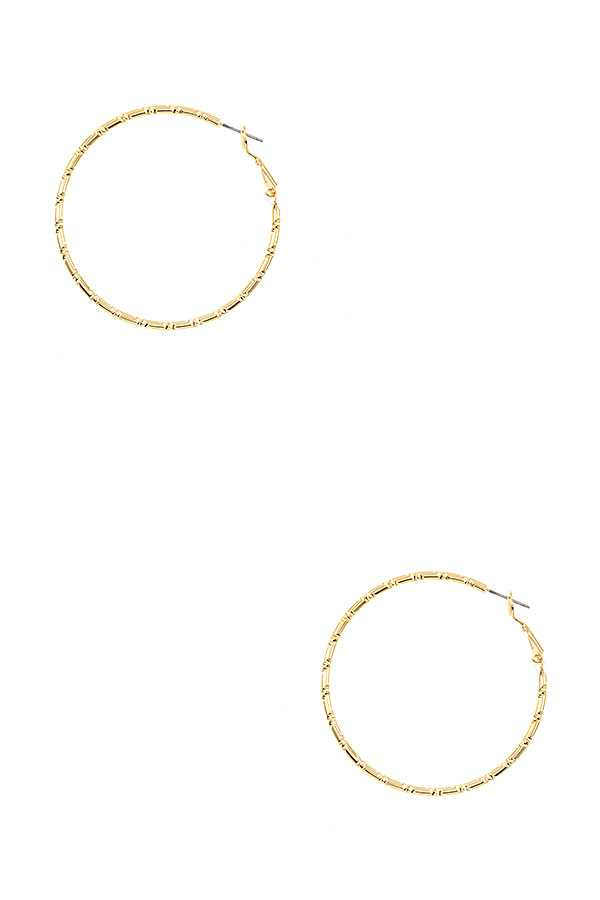 BABMOO DETAILED HOOP EARRING