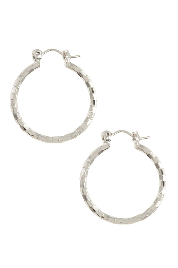 BAMBOO PATTERN MINI HOOP EARRING