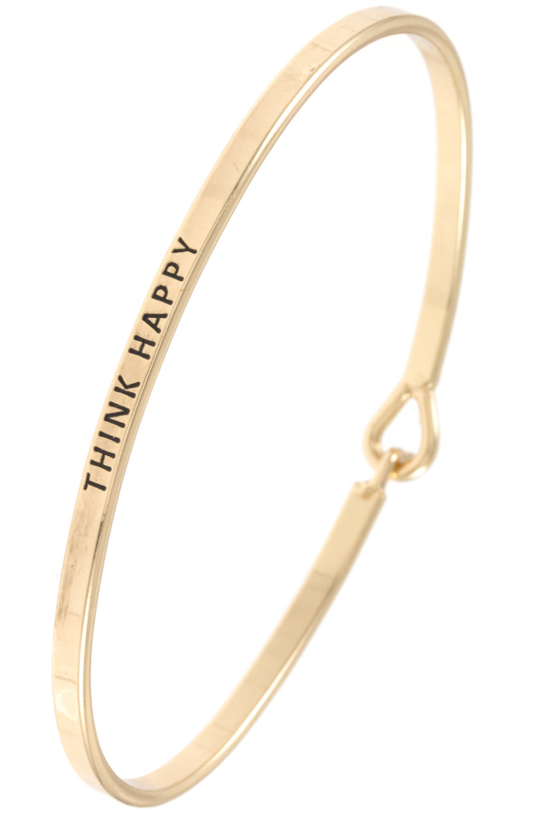 THINK HAPPY ACCENT BANGLE BRACELET
