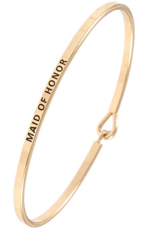 MAID OF HONOR ACCENT BANGLE BRACELET