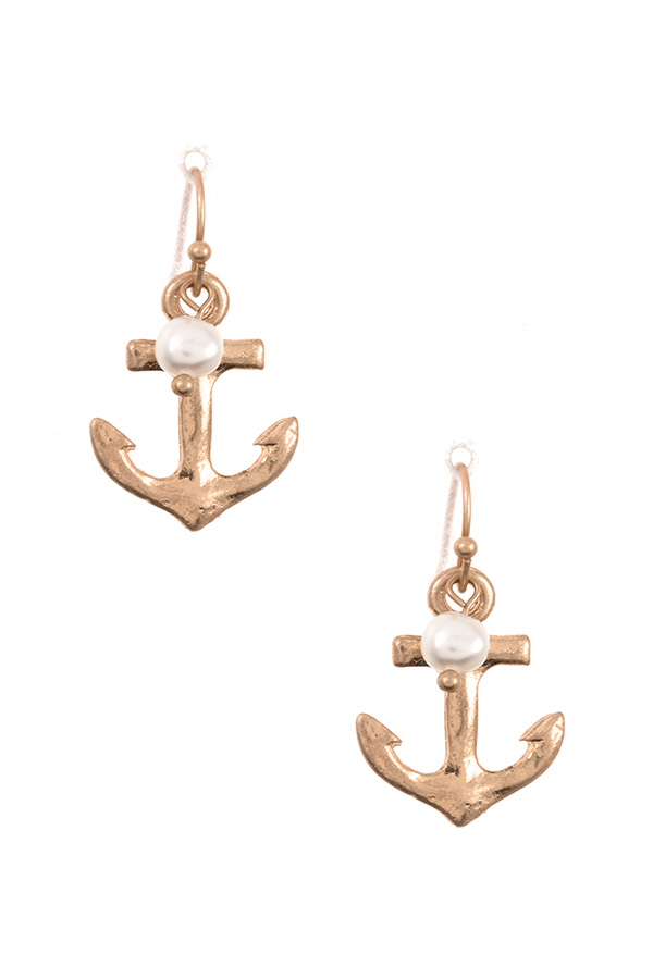 ANCHOR DANGLE EARRING