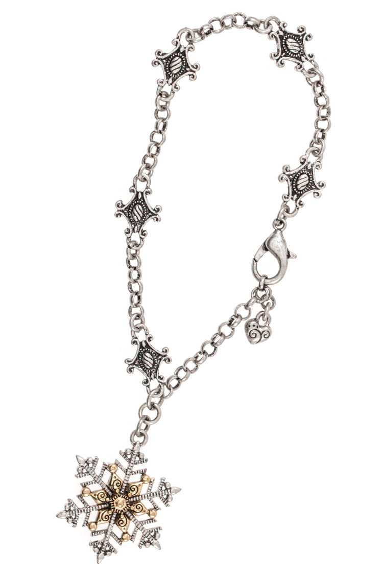 Snowflake Dangle Charm Bracelet