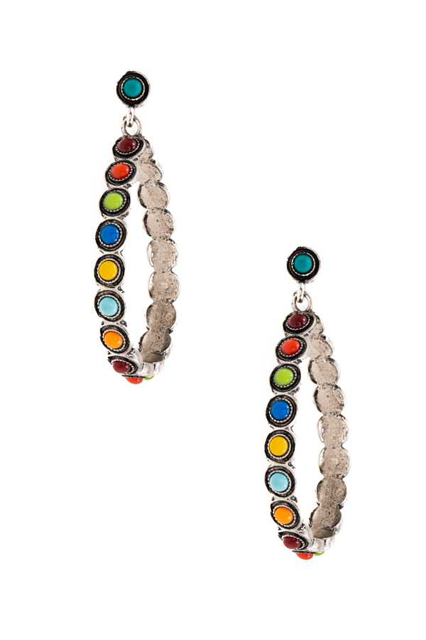 GEM PAVE TEARDROP EARRING