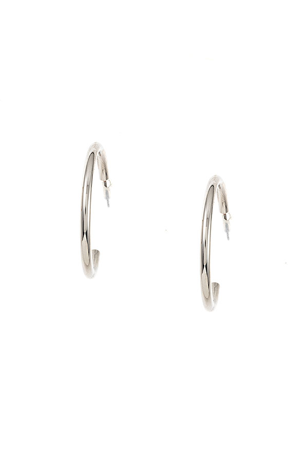 SEMI TUBE HOOP EARRING