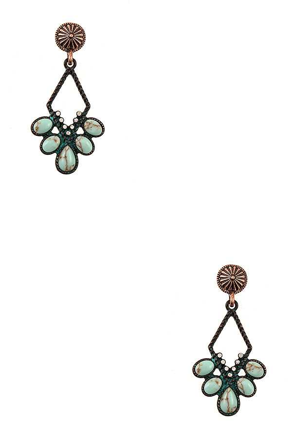 GEM ORNATE DANGLE EARRING
