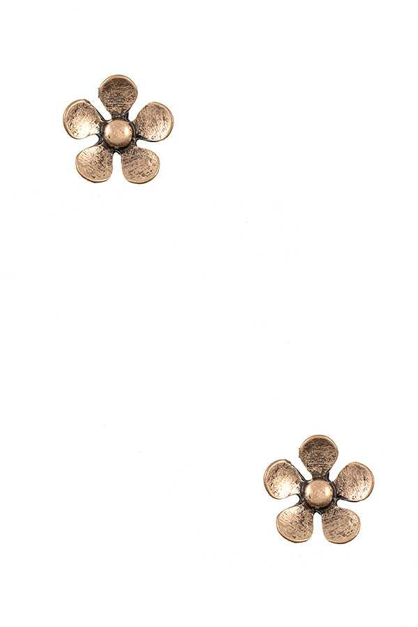 FLORAL PSOT EARRING