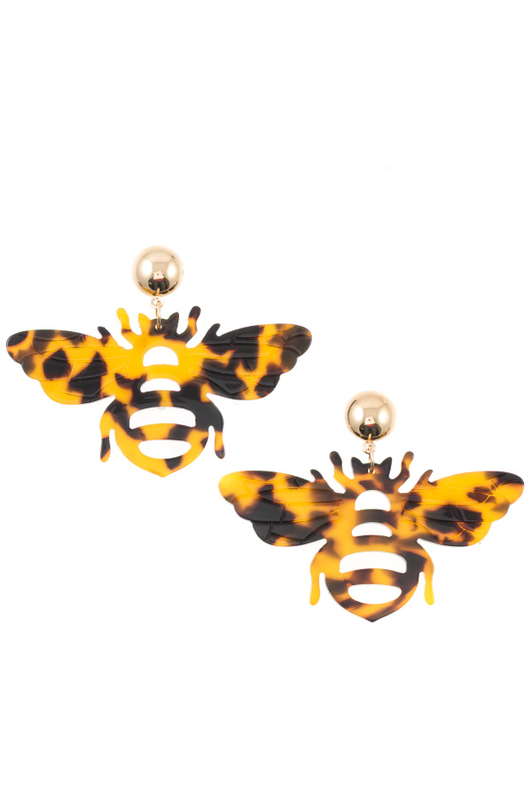 FLAT BEE CUT OUT POST EARRING