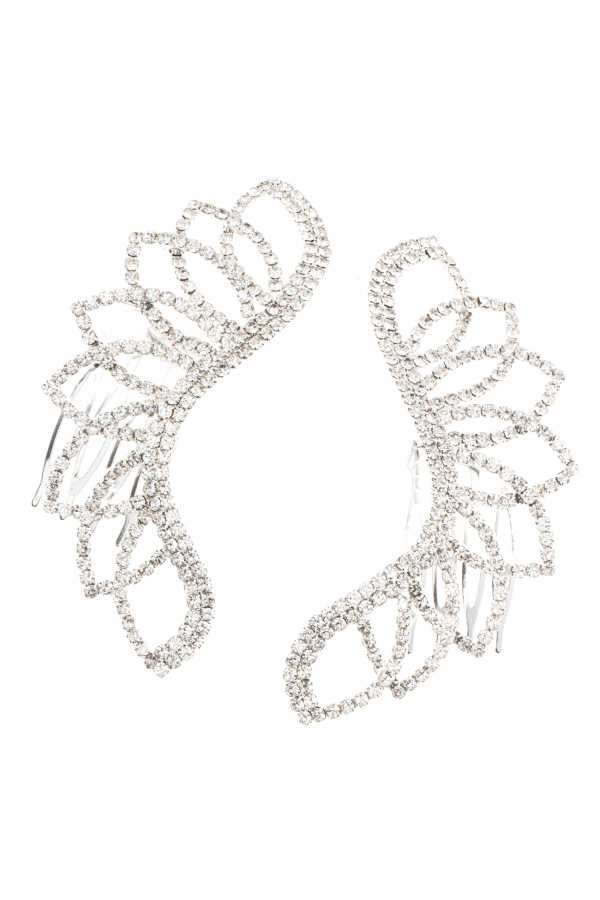 RHINESTONE MARQUISE CUT OUT DETAILED HAIRCOMB