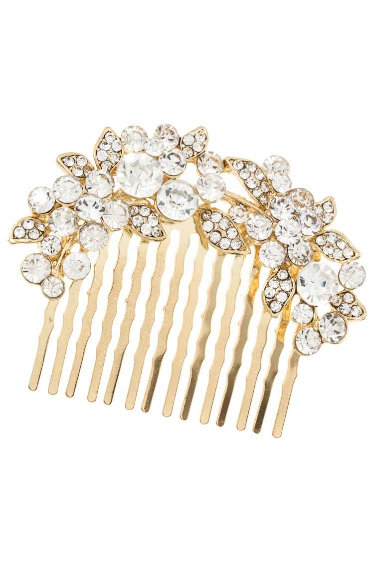 Detailed Floral Vine Hair Comb Insert