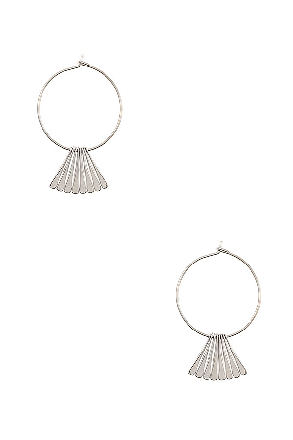 Mini Fringe Bar Circle Earring