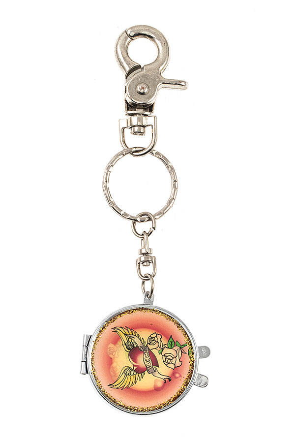 FLORAL ACCENT KEY CHAIN