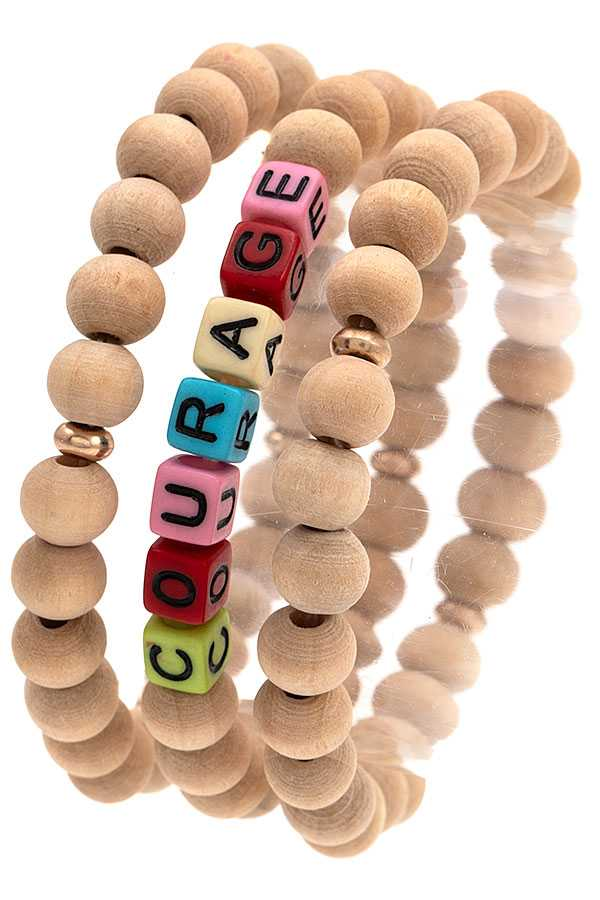 COURAGE BEADED BRACELET