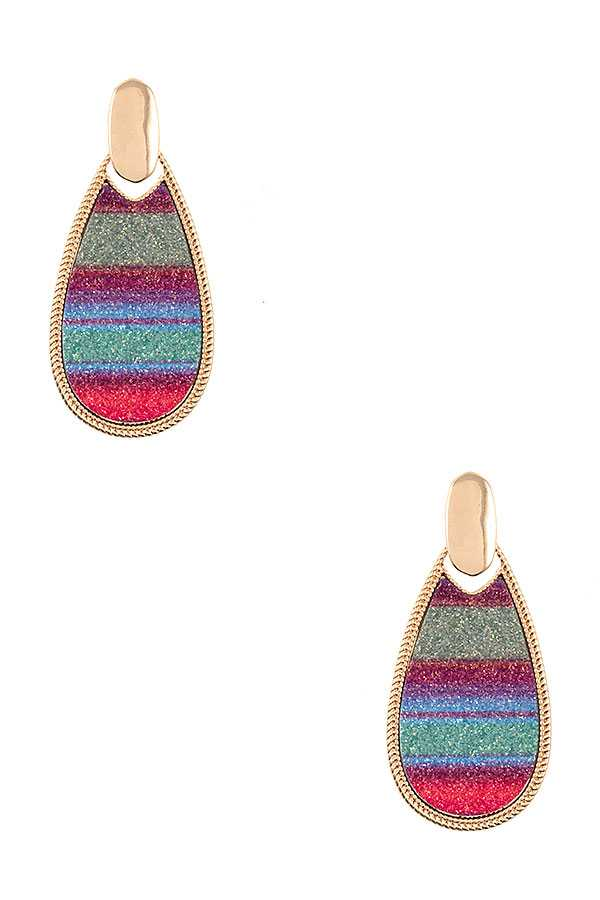 MULTI COLOR TEADROP EARRING