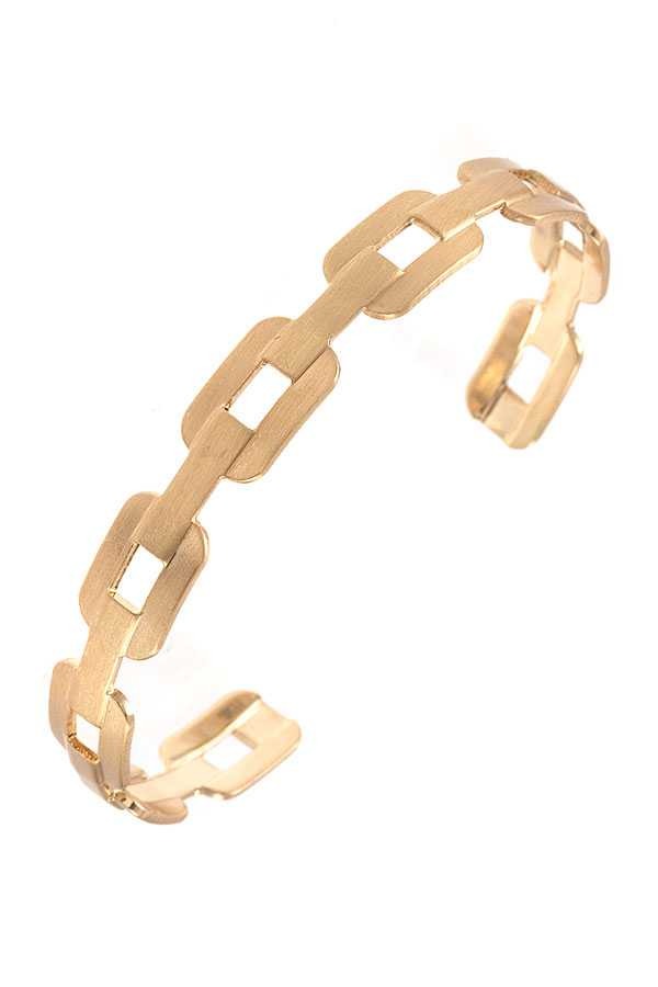 CHAIN DETAILED LINK CUFF BRACELET