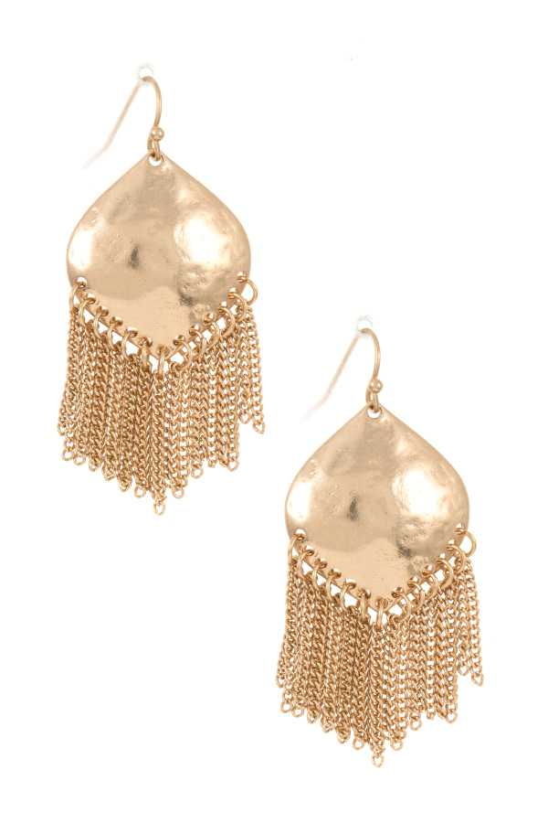 Drop Fringe Chain Dangle Earring