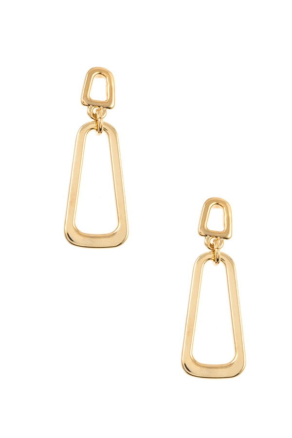 DOUBLE LINK CUT OUT SHAPE EARRING