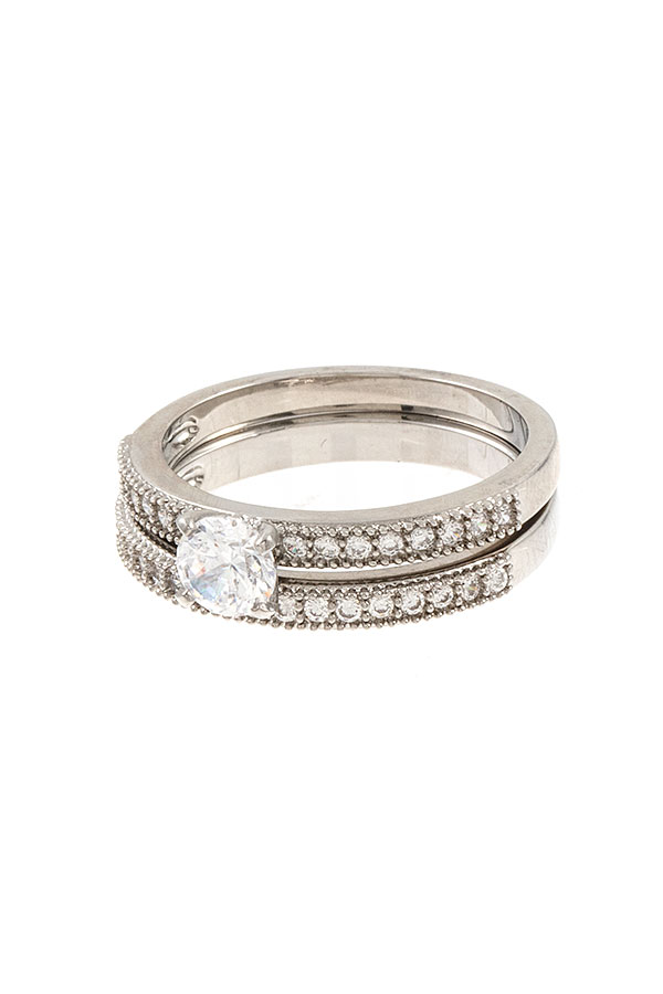 ALIGNED CZ STONE ROUND CUT RING