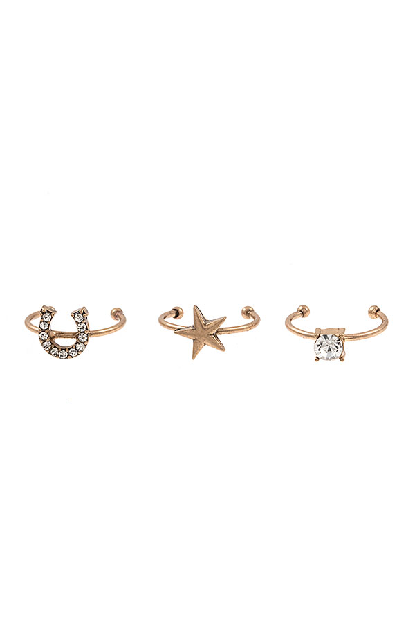 MIX STAR TOE RING SET
