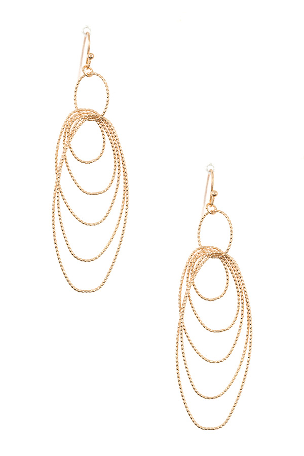 MULTI OVAL LINK DANGLE EARRING