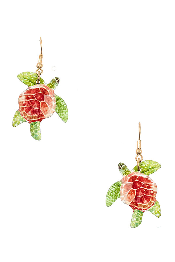TURTLE DANGLE EARRING